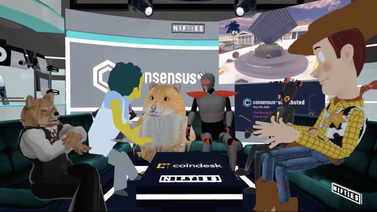Avatars having a chat in VR